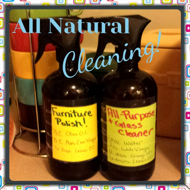 All Natural Cleaning with Essential Oils!