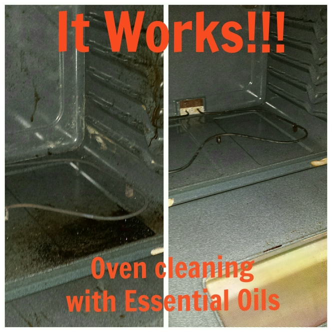 Holy cow it works!  Oven cleaning with Essential Oils!