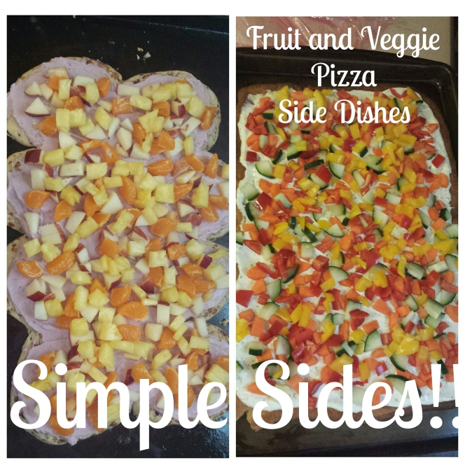 Fruit and Veggie Pizzas = Simple Sides Dishes!